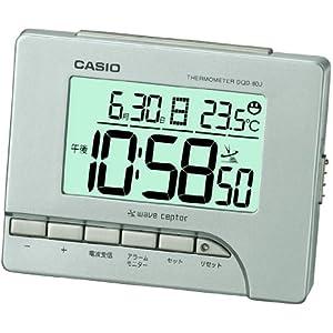 CASIO (カシオ) 電波デジタル目覚まし時計 温度表示 シルバー DQD-80J-8JF DQD-80J-8JF