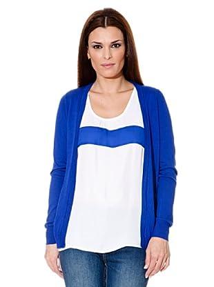 Cortefiel Cardigan Tricot (Blau)