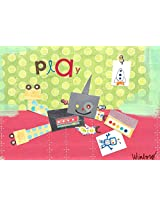 Oopsy daisy Play Robot Stretched Canvas Wall Art by Winborg Sisters, 14 by 10-Inch