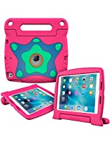 iPad Air 2 Case, Apple iPad Air 2 Kids case, rooCASE ORB 360 Starglow Kid Friendly Drop Shock Proof Protective Lightweight Tough Armor Case Cover Convertible Carrying Handle Stand - Magenta