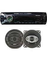 "Worldtech ONMCA_128 Music System Single DIN WT - 7001U with 4"" Speakers Set"