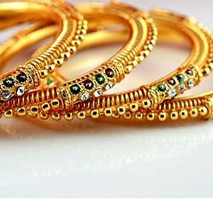 Vidhya Kangan Store Gold Platting Bangles