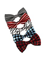 DBF0160 Italian Pre-Tied Bowties Multi-colored Microfiber 5 Pack Set Bow ties By Dan Smith