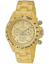 ToyWatch Women's FLP07GD Quartz Yellow Dial Plastic Watch