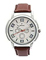 Calvino Men's White Dial Watch CGAS-1412118-MRM_Brwn Wht