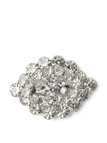 Lulu Frost 1950's Art Deco Cluster Brooch, Silver