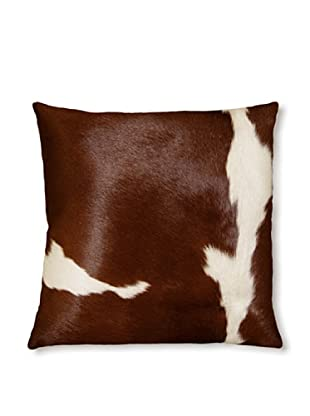 Natural Torino Cowhide Pillow (Brown/White)