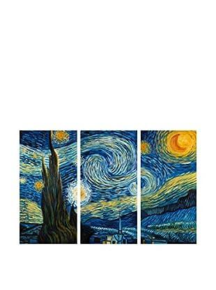 Arte dal Mondo  Wandbild 3er Set Van Gogh Notte Stellata