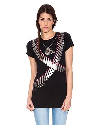 Mala Mujer Camiseta Coral (Negro)