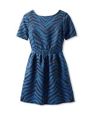 Thomas Sires Women's Schiller Wrap Back Dress (Blue Zebra)