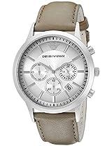 Emporio Armani Men's AR2471 Classic Analog Display Analog Quartz Beige Watch