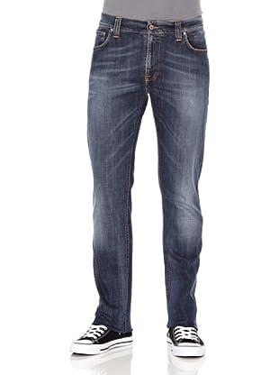 Nudie Jeans Pantalón Thin Finn (Azul medio)