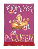 Julia Junkin Forever A Queen Kitchen Towel - Pink/Red