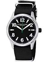 Stuhrling Original Men's 406A.331OB13 Leisure Eagle Stainless Steel Watch with  Black Canvas Strap