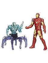 Avengers Age of Ultron Iron Man Mark 43 Vs Sub Ultron 001 Figure Pack, Multi Color (2.5-inch)