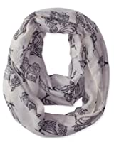 D&Y Women's Kitchy Owl Print Loop Scarf