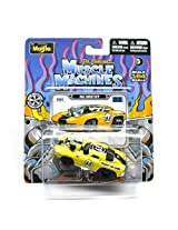 1963 Corvette (Yellow) * The Original Muscle Machines * Series 12 Maisto 1:64 Scale Die-Cast Vehicle Collection
