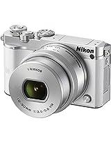 Nikon 1 J5 20.8MP Digital SLR Camera (White) with 10-30mm VR Lens