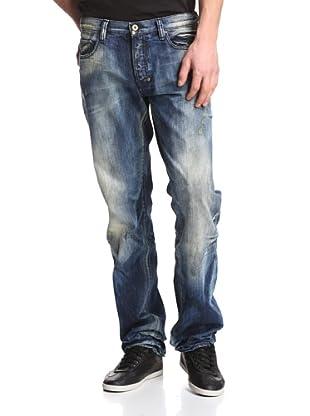 PRPS Goods & Co. Men's Barracuda Straight Leg Wave Jean (Light Wash)