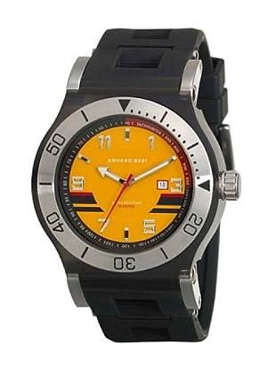 ARMAND BASI A0681G07 - Reloj de Caballero movimiento de cuarzo con correa de caucho Negra