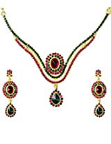 14Fashions Pink Copper Necklace Set For Women_1101328