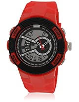 Fs205-Rd01 Red/Black Analog & Digital Watch