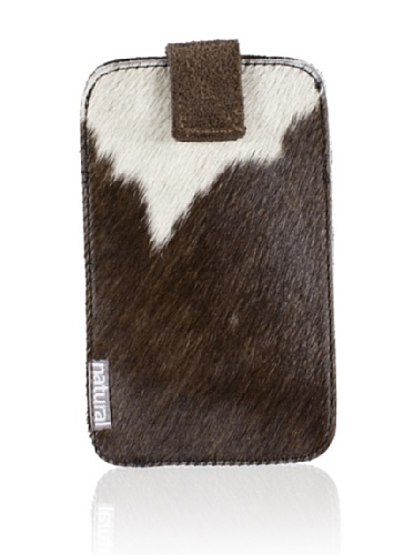 Natural iPhone Cowhide Case (Brown & White)