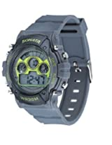 Sonata Digital Grey Dial Men's Watch - 77006PP02J