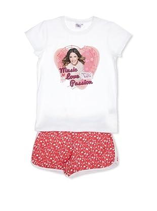Licencias Pijama Violetta (Blanco / Rosa)
