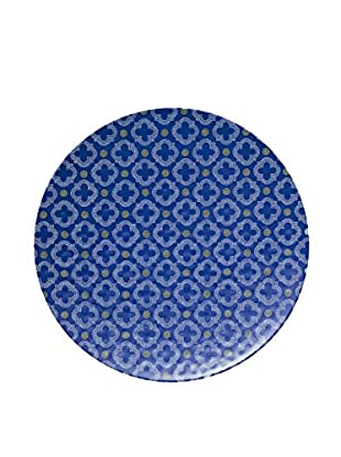 Q Squared NYC Montecito Large Serving Platter, Blue/White