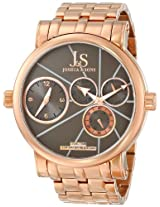 Joshua & Sons Men's JS-35-RG Dual Time Stainless Steel Watch