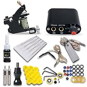 Professional 1 Tattoo Gun Tattoo Kit Mgt18 with Tattoo Power Supply/1 Color Tattoo Ink/tattoo Needles/1 Tattoo Machine/other Tattoo Supplies