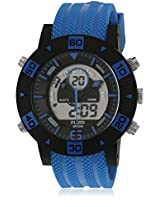 Dmf-007-Bl01 Blue/Black Analog & Digital Watch Flud