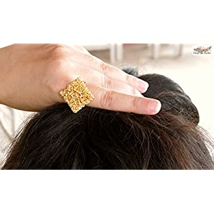 Under the Feather Gold Diamond shaped Finger Ring