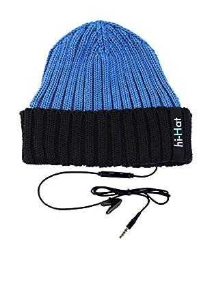 hi-Fun Gorro Con Auriculares Hi-Hat Turn Up Azul/Azul Oscuro