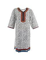 Handicraft Kottage Women's Cotton Yellow Long Sleeve Kurti