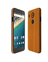 Skinomi® TechSkin - LG Nexus 5X Screen Protector (2015) + Light Wood Full Body Skin / Front & Back Wrap Clear Film / Ultra HD and Anti-Bubble Invisible Shield