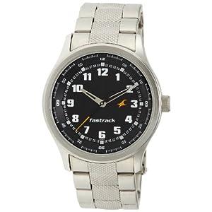 Fastrack NE3001SM01 Men's Watch-Silver