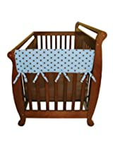Trend Lab Cotton Crib Wrap Wide Rail Covers For Crib Sides (Set Of 2), Blue Max Dot By Trend Lab
