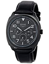 Pulsar Men's PP6085 Stainless Steel Watch with Black Leather Band