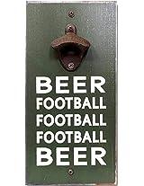 My Word Beer Football Bottle Opener, 6 x 12