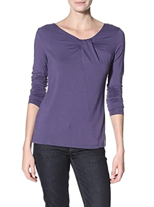 Cullen Women's Twist Neck Top (Void Blue)