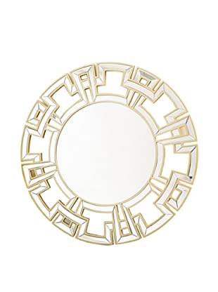 Abbyson Living Zentro Round Wall Mirror (Gold)
