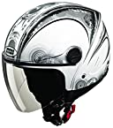 Studds Track D1 Open Face Helmet (White N4, XL)