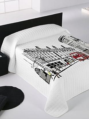 Euromoda Lencería Colcha Bouti Oxford Street (Blanco / Negro)