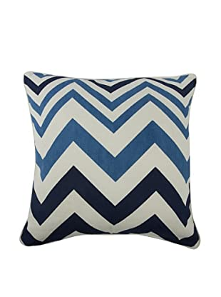 Thomas Paul Zig-Zag Feather Pillow (Azure)