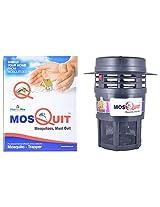 MosQuit UV Treated Plastic House Mosquito Trapper (25 cm x 25 cm x 30 cm, Black)