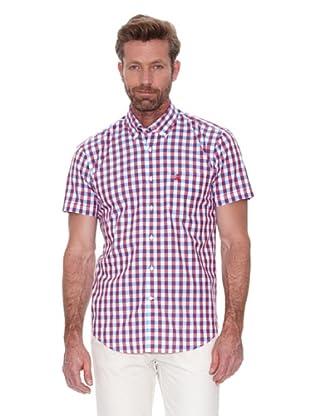 Cortefiel Camisa Vichy Grande (Rojo)