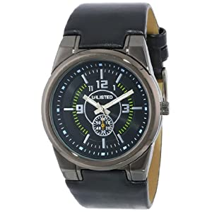 UNLISTED WATCHES Men's UL1094 City Streets Triple Black Round Analog Watch