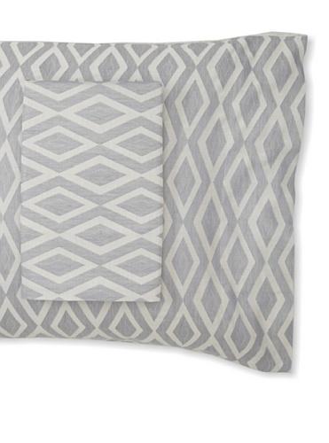 Mili Designs Pair of Santorini Pillowcases (Grey)